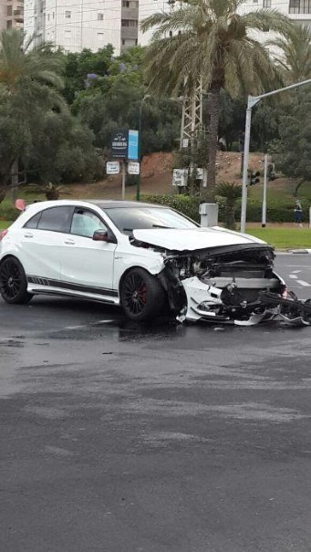 Mercedes A45 Amg Edition 1 Crashes And Catches Fire Dpccars