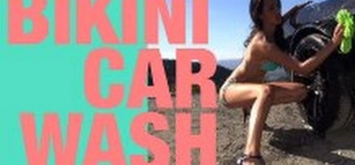 Model Kat washing and ride in Challenger SRT Hellcat – Video
