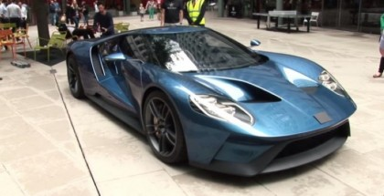 New Ford GT concept with covered badge in London