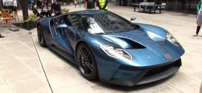 New Ford GT concept with covered badge in London – Video