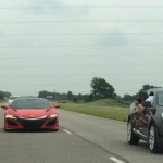 New Red Acura NSX's Have Been Caught On Camera In Public Street (2)