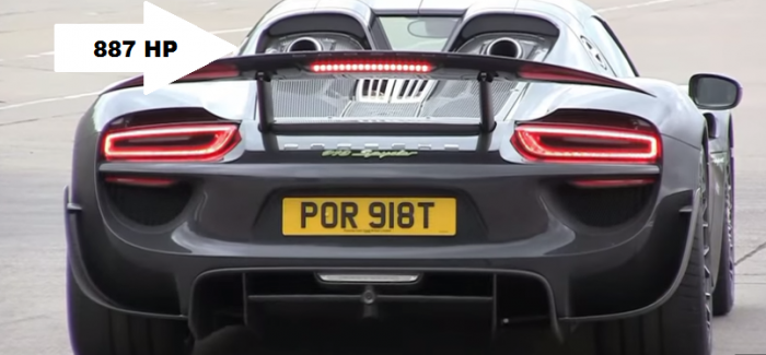 Porsche 918 Spyder Drag Racing – Video