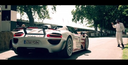 Porsche 918 Spyder driven by Dario Franchitti at Goodwood