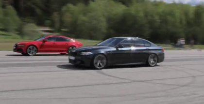 Rolling Race - Stock Audi RS7 vs Tuned BMW M5 F10 1