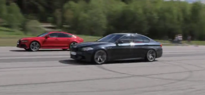 Rolling Race – Stock Audi RS7 vs Tuned BMW M5 F10 – Video