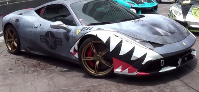Shark Week is here so we present you with Shark wrapped Ferrari 458 Speciale – Video
