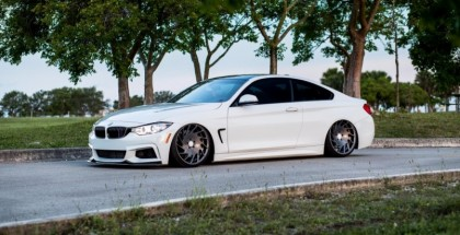 Slammed BMW 435i on Vossen 20 inch VLE-1 (4)