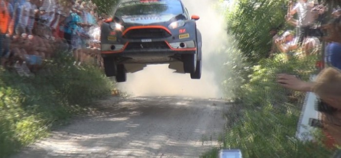 Spectators getting too close to jumping WRC Rally Cars – Video
