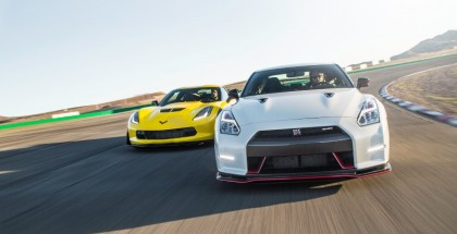Street Race - Stock 2015 Corvette C7 Z06 vs Switzer Bolt On Nissan Nismo GTR - Video