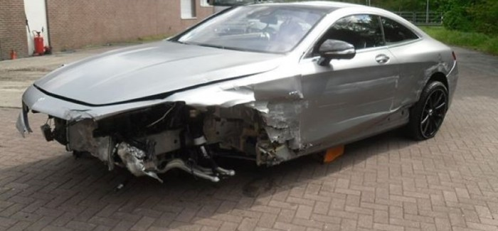 Totaled New Mercedes S63 AMG Selling For $100K