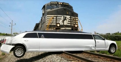 Train Crashes Into Stretched Limo (8)