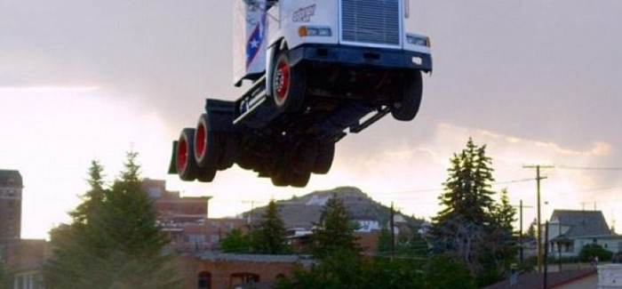 World record semi truck jump – Video