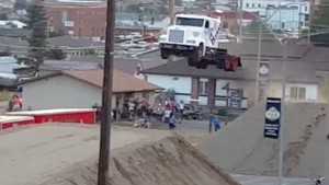 World record semi truck jump (2)