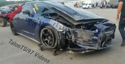 2000HP 7 second Nissan GT-R crashes at the track (1)