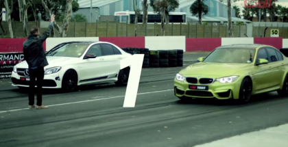 2015 BMW M3 vs Mercedes-AMG C63 S Drag Race and Review 1