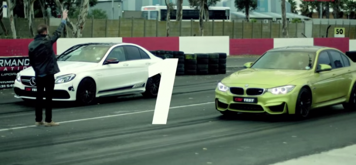 2015 BMW M3 vs Mercedes-AMG C63 S Drag Race and Review – Video