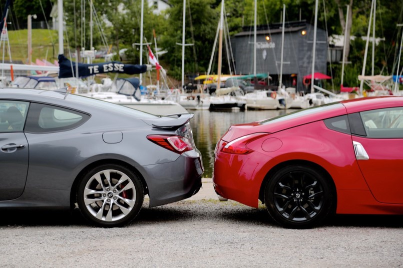 2015 Nissan 370Z vs 2015 Hyundai Genesis Coupe  Video  DPCcars