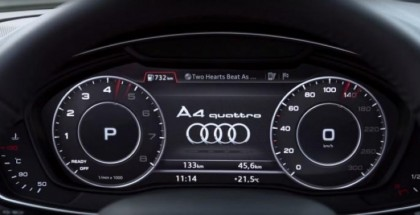 2016 Audi A4's virtual cockpit demonstrated