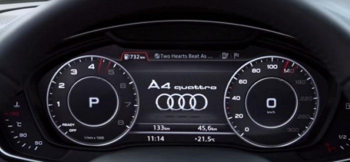 2016 Audi A4's virtual cockpit demonstrated – Video