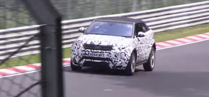 2016 Range Rover Evoque Cabriolet testing on Nurburgring – Video