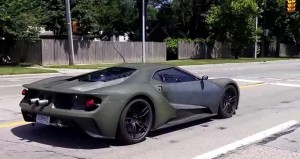 2017 Ford GT Test Mule Cruising in Detroit Streets (1)