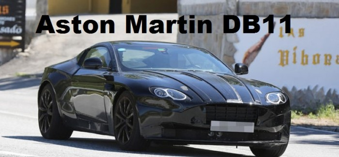 Aston Martin DB11 screenshot from spy photos and video