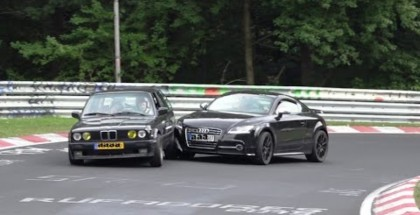 Audi TT and BMW E30 Crash at Nurburgring (1)