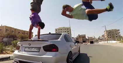 BMW vs Parkour Stunts In Gaza (8)