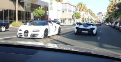 Beverly Hills invasion featuring McLaren P1 and Bugatti Vitesse (3)