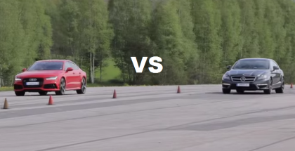 Both Stock - Audi RS7 vs Mercedes CLS63 AMG BiTurbo Performance Package