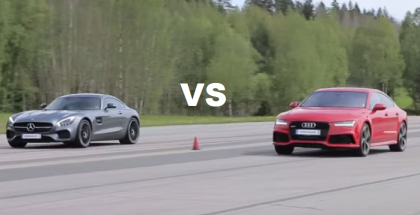 Both Stock - Mercedes AMG GT S vs Audi RS7 (2)