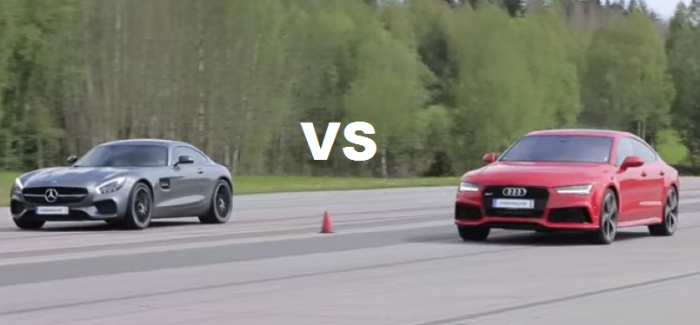 Both Stock – Mercedes AMG GT S vs Audi RS7 – Video