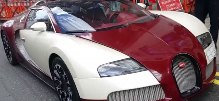 Double parked Bugatti Veyron gets a parking ticket