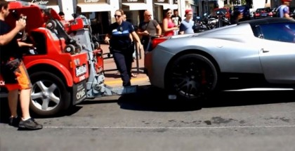 Double parked Ferrari 458 Hamann Towed by The Police in Cannes (3)