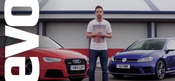 EVO Review – Audi RS3 vs Volkswagen Golf R – Video