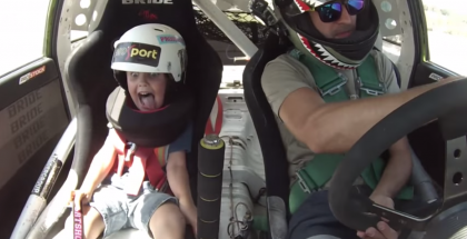 Father and son drift looks like lots of fun