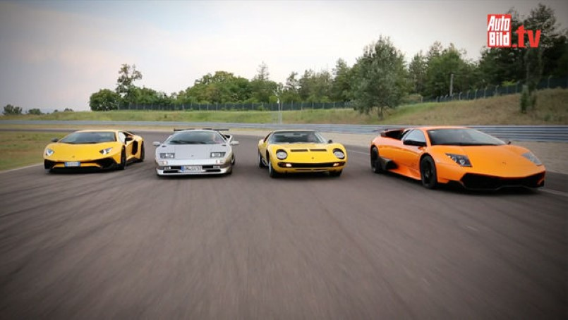 Four Generations Of Lamborghini Superveloce S From 1972