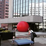 Giant runaway red ball in the streets of Toledo (2)