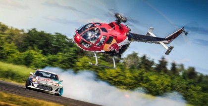 Insane Helicopter Chases Down Drifting Race Car (3)