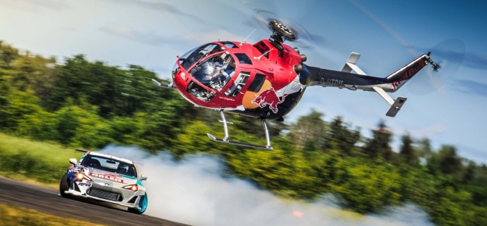 Insane Helicopter Chases Down Drifting Race Car – Video