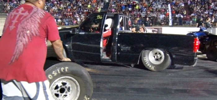 Insane Truck Drag Race Launch Ends With Wheel Flying Off – Video