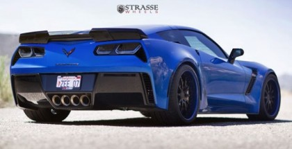 Laguna Blue Corvette Z07 With Strasse Wheels (5)