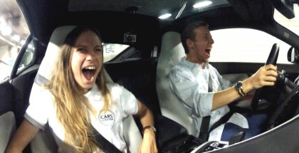 Marchettino's Girlfriend Reaction To A Ride In a Jaguar F-Type S (2)