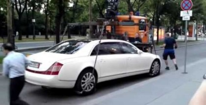 Maybach 62S too heavy to tow