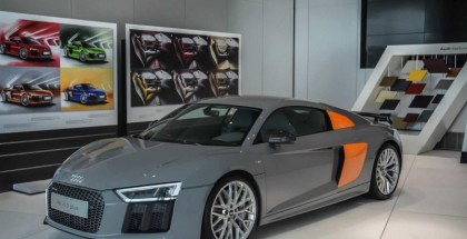 Nardo Gray with Glut Orange Audi R8 V10 Plus by Audi exclusive (4)