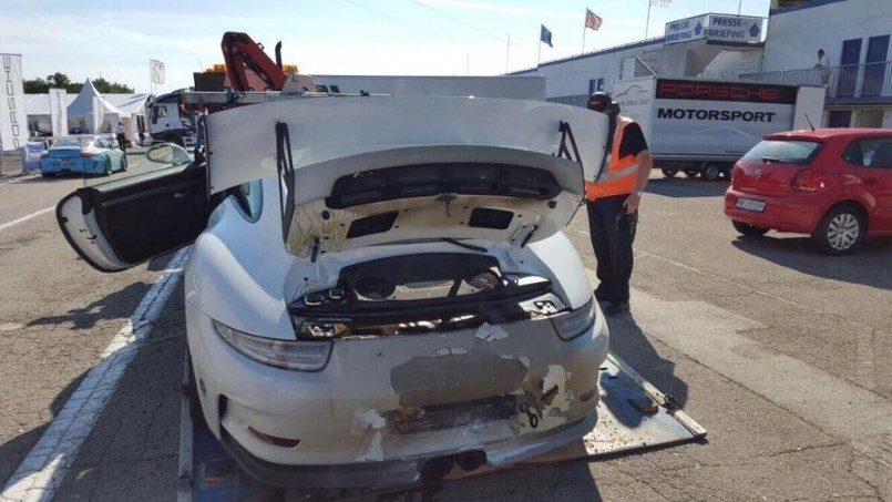 New Porsche 991 Gt3 Rs Engine Catches Fire For The Second Time Dpccars