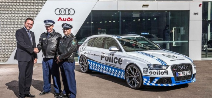 New South Wales Audi RS4 Avant Police Car
