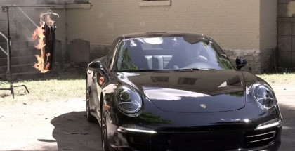 Porsche fans burn Rag & Bone clothing in retaliation for crushing a Porsche 911
