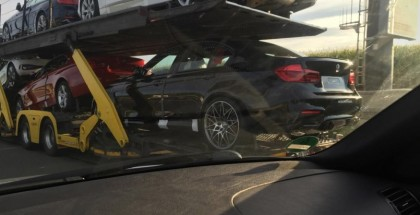 Production BMW M3 Competition Package spied On A Transport Truck (2)