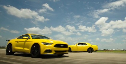 Roll Race - 707HP Challenger Hellcat vs 774HP Hennessey Mustang 2